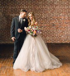 Gorgeous Carolina Herrera wedding dress