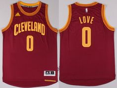 Cleveland Cavaliers #0 Kevin Love Revolution 30 Swingman 2014 New Red Jersey
