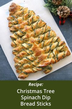 Christmas tree spinach dip breadsticks - It's Always Autumn Best Holiday Appetizers, Appetizers For Party, Appetizer Recipes, Holiday Recipes, Christmas Recipes, Christmas Desserts, Dinner Recipes, Christmas Tree Food, Christmas Baking