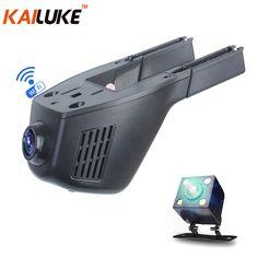 KAILUKE Universal Mini Car DVR Wifi Camera Car DVRS Video Recorder Monitor Dash Cam Black Box Camcorder Full HD 1080P Dual Lens