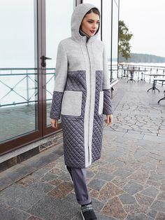 Пальто женское демисезонное цвет серый, Пальтовая ткань, артикул 1018650p10091
