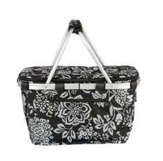 D-Line Picnic Cooler Insulated Basket - Shopping Lightweight - Foldable - Black in Home & Garden, Yard, Garden & Outdoor Living, Outdoor Cooking & Eating Picnic Cooler, Picnic Spot, Picnic Essentials, Car Boot, Beach Gear, Small Space Storage, Simple Bags, Camellia, Velcro Straps