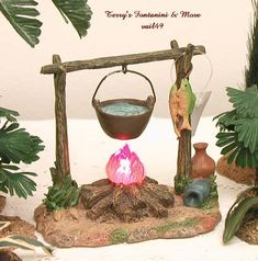 """I Don't Take Pictures of Each One. The One in my Pictures May or May not be the Actual Piece you Will be Getting. This Great Village Accessory is the """"Lighted Campfire"""". Christmas Village Display, Christmas Nativity Scene, Christmas Carol, Simple Christmas, Christmas And New Year, Christmas Holidays, Fontanini Nativity, Diorama, Mini Candles"""
