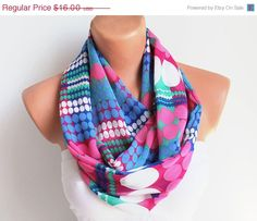 BIG SALE Infinity Scarf Loop Scarf Circle Scarf Cowl por fairstore