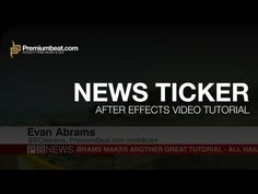 After Effects News Ticker Tutorial - YouTube