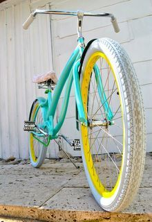 Image result for yellow turquoise bicycle