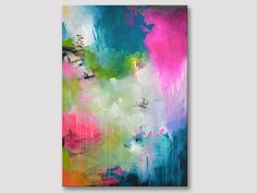 Original extra große abstrakte Malerei moderne von ARTbyKirsten
