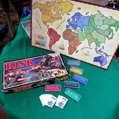 Risk Board Game Game of World Conquest 1993 Parker Brothers All 360 Miniatures! #ParkerBrothers