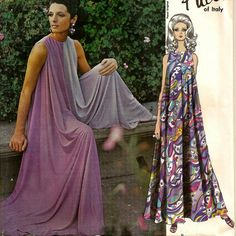 1967 Vogue Pucci of Italy Culotte Jumpsuit Pattern Uncut