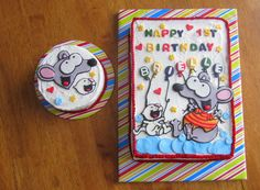 Children's Birthday Cakes - Baby's first Birthday Toopy and Binoo Birthday cake with Smash cake Baby First Birthday, Happy Birthday, Birthday Cakes, Birthday Ideas, Pink Und Gold, Cupcake Cakes, Cupcakes, Cake Smash, First Birthdays