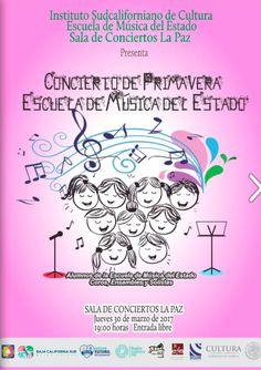 Recital de primavera de la Escuela de Música del Estado, 30-mar, Sala de Conciertos La Paz, La Paz