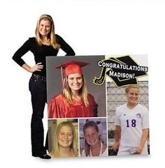 Back with some more graduation party ideas. This time -- personalized decor for your favorite graduate. I found a few really cool items I wanted to share with everyone. Hope you like them as much as I do!  Memory Board Graduation Standee