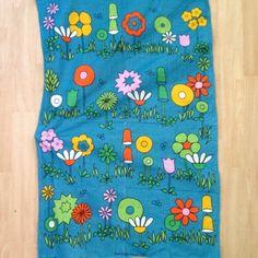 Vintage 1970s Tea Towel