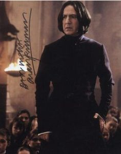 Alan Rickman as Severus Snape in the Harry Potter series of films.