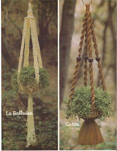 La Ballerina / Suisse • Macrame 1970s Beaded Plant Pot Hanger • Wall Hanging Bead Curtain • Vintage Macramé • Boho Hippie • Instant Download by TheStarShop on Etsy
