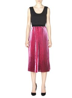 Naughty Dog FW1617 plissé metallic skirt