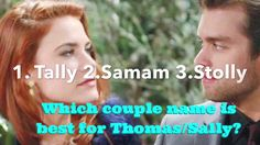 Couple Name for Thomas and Sally.... You Choose!