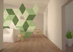 EDERA décoration modulaire en feutre par Loris De Grandi