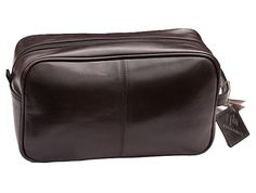 Prime Hide Brown Leather Wash Bag