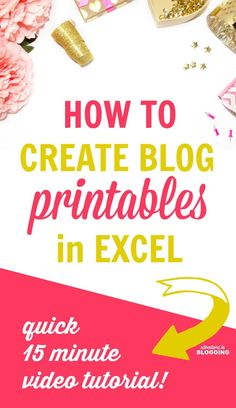 Designing printables isn't as hard as you think! Here's a simple tutorial that will teach you how to make pretty printables in Microsoft Excel. You can use them yourself, sell them online, or give them away for free if you have a blog!