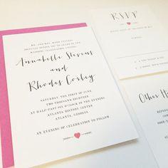 Annabelle Wedding Invitation  Fun Wedding by DHFitzgerald on Etsy