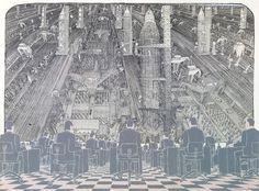 Laget i 1987Malerifrisen: Apokalypse.. City Photo, Architecture, Artwork, Color, Inspiration, Dibujo, Apocalypse, Arquitetura, Biblical Inspiration