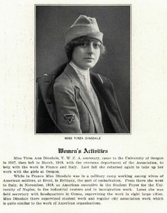 YWCA secretary Tirza Dinsdale 1920-21.  From the 1921 Oregana (UO yearbook).  www.CampusAttic.com