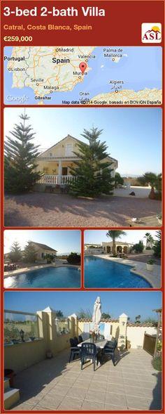 3-bed 2-bath Villa in Catral, Costa Blanca, Spain ►€259,000 #PropertyForSaleInSpain