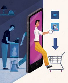 Retail News - Showrooming Here's a new editorial I produced for the Toronto based Retail News Magazine last month illustrating the concept of 'showrooming' The article explains how some customers of the 21st century now go in-store to investigate and handle certain products but then purchase online or on their mobile devices.