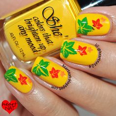 Fall leaves - Living in the desert - this is how I would see fall leaves!!  Nice idea - hmm nail appt on Monday!!  ;-)