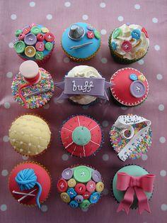 Sewing Box Cupcakes | Flickr - Photo Sharing!