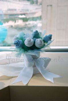 Baby sock flowers google search baby shower pinterest cute socks flowers for a baby gift negle Image collections