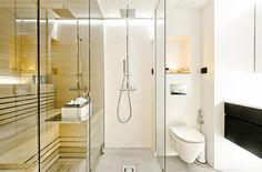A bright Loft in Turku, Finland - Sauna! Bathroom Inspiration, Architecture Bathroom, House Design, Interior Design Tips, Urban Industrial Decor, Industrial Decor, Interior, Stunning Interiors, Furniture Design Modern