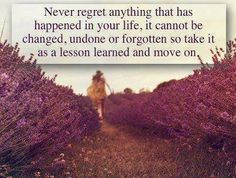 Lesson learned and move on