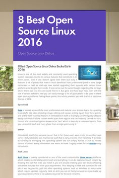 8 Best Open Source Linux 2016