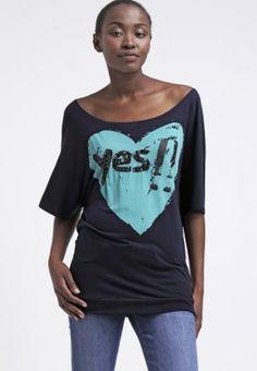 Desigual ELVIRA - T-shirt con stampa - marino - Zalando.it