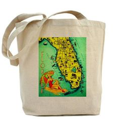 retro Florida beach bag