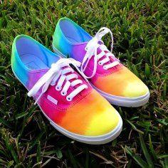 Rainbow shoes!