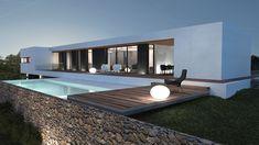 Maison contemporaine | Aix-en-Provence http://www.m-habitat.fr/preparer-son-projet/types-de-maisons/les-maisons-plain-pied-721_A