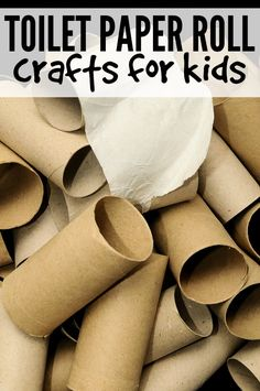 Whether you're on the hunt for boredom busters, or simply love finding new crafts for kids, you'll love this collection of fun & easy toilet paper roll crafts for kids.