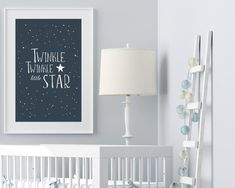 """Baby nursery stars theme art from Sunny and Pretty. Bright stars kids prints with a """"Shine like the stars"""" quote for a playful kids room decor. Nursery art and nursery prints to complete your nursery decor project. Our nursery wall art is made with love and is designed to reflect your nursery wall decor style. 🖤 Get excited about decorating for your little one! #sunnyandpretty Sky Nursery, Outer Space Nursery, Baby Boy Nursery Decor, Nursery Artwork, Nursery Paintings, Baby Room Decor, Nursery Prints, Galaxy Nursery, Nursery Ideas"""