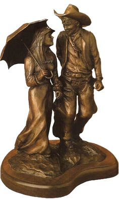 Courtin' Days bronze sculpture by artist G. Harvey is just one of the many discounted limited edition bronze figurine sculptures available for sale at Christ-Centered Art.