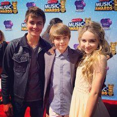 Peyton Meyer, Corey Fogelmanis and Sabrina Carpenter at the Radio Disney Music Awards 2014