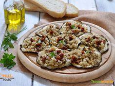 Melanzane gratinate con olive, capperi e acciughe #ricette #food #recipes