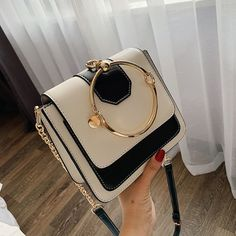 Buy Now Ladies Ladies fashion Joker simple PU leather new exquisite handbag shoulder chain bag slung small square bag Fashion Handbags, Fashion Bags, Ladies Fashion, Womens Fashion, Chain Crossbody Bag, Cute Bags, Luggage Bags, Pouches, Kitchen Dining