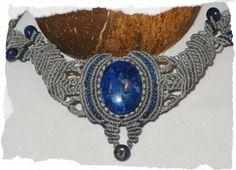 Kette ☼ Makramee ☼ Blue Waters ☼ Lapislazuli von Sunnseitn Kunsthandwerk auf DaWanda.com