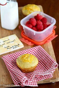 Healthy Cornmeal Avocado Muffin Recipe with Cheddar Cheese | cookincanuck.com #recipe #avocado #muffin #schoollunch by CookinCanuck, via Flickr