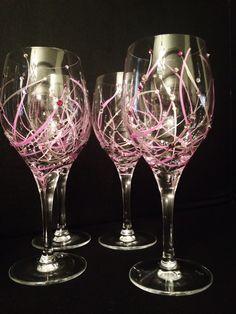 Be Mine white wine glasses