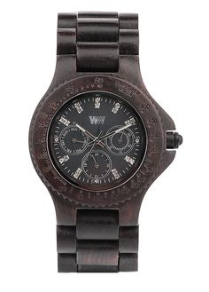 WeWOOD 'cygnus' Multifunction Wood Bracelet Watch Black One Size for sale online Wood Bracelet, Bracelet Watch, Wood Store, Wooden Watch, Black Wood, Rolex Watches, Fashion Accessories, Mens Fashion, Stuff To Buy