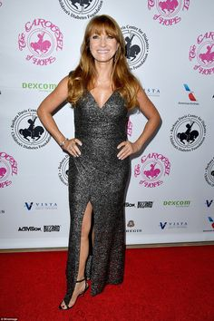 Actress Jane Seymour showed off her honed figure at the 2016 Carousel Of Hope Ball at The ...